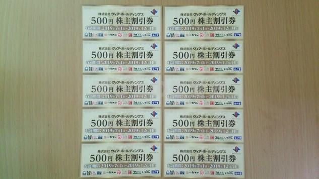 ヴィアホールディングズの株主優待は500円券