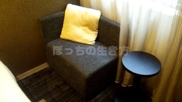 ホテルユニゾ京都四条烏丸のリラックスチェア
