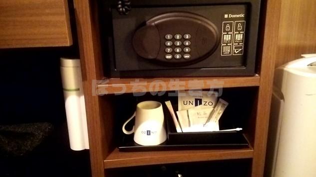 ホテルユニゾ京都四条烏丸のセキュリティーボックス