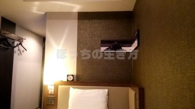 ホテルユニゾ四条烏丸のシングルルーム宿泊