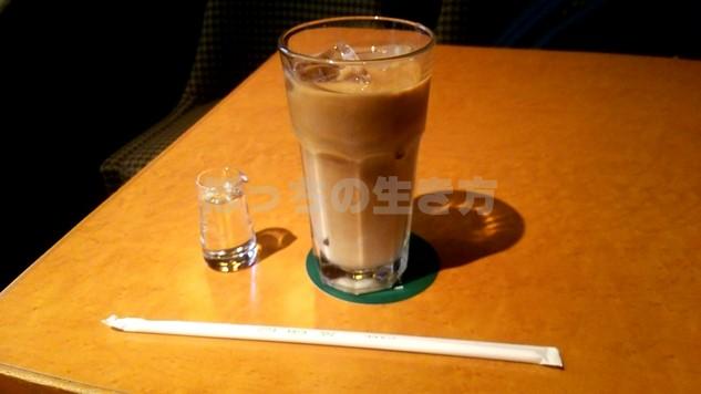 和歌山駅前の近鉄百貨店で英國屋のアイスコーヒーを飲む