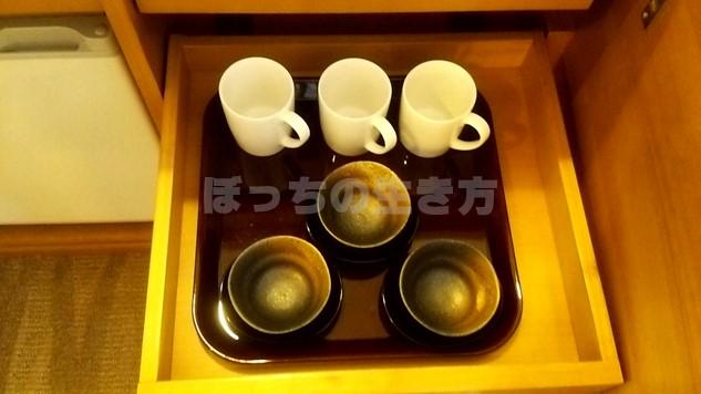 シェラトン広島のコーヒーカップと湯呑み