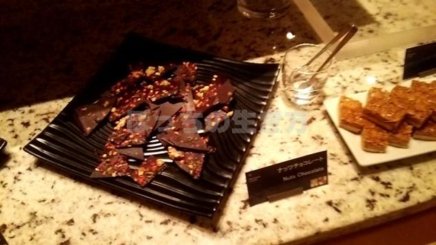 シェラトン広島の夜のティータイムのチョコレート