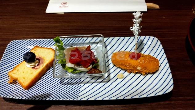 神戸ベイシェラトンホテルのクラブラウンジのトワイライトサービスのオードブル