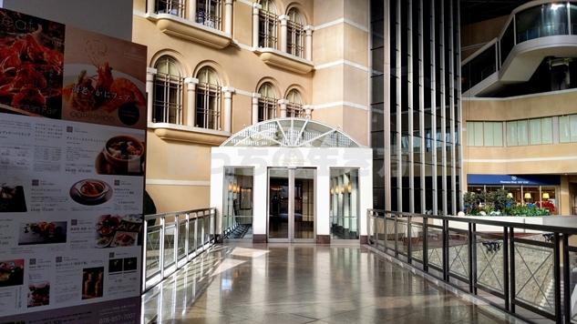 神戸ベイシェラトンホテルの玄関