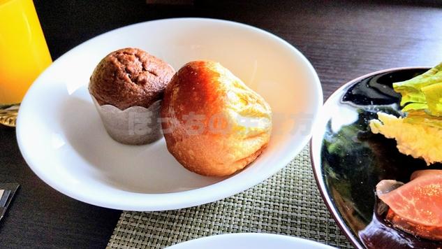 神戸ベイシェラトンホテルのクラブラウンジ朝食のマフィン