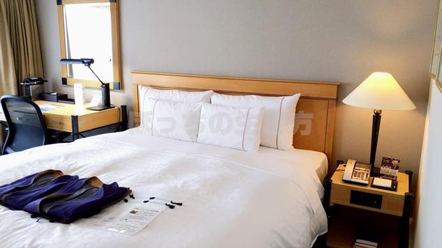 神戸ベイシェラトンホテルのクラブフロアのベッド