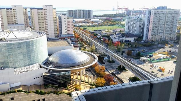 k神戸ベイシェラトンホテルのクラブフロアからの景色