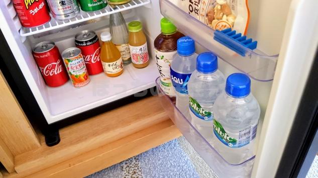 神戸ベイシェラトンホテルのクラブフロアの冷蔵庫