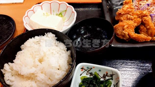 天狗大宮西口店のランチの小鉢豆腐