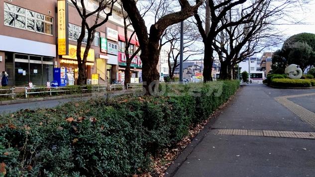 高尾駅南口のバス乗り場