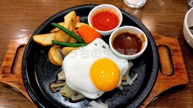 オーブン亭のハンバーグと半熟卵