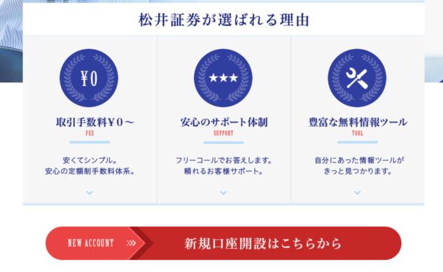 松井証券の新規口座開設