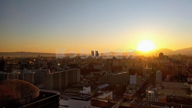 アゴーラリージェンシー堺から見る朝日