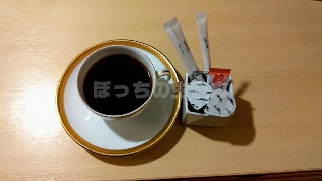 リーガロイヤル大阪のルームサービスのコーヒー
