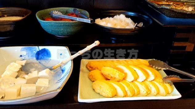 リーガロイヤル大阪のエグゼクティブラウンジの玉子焼きと豆腐