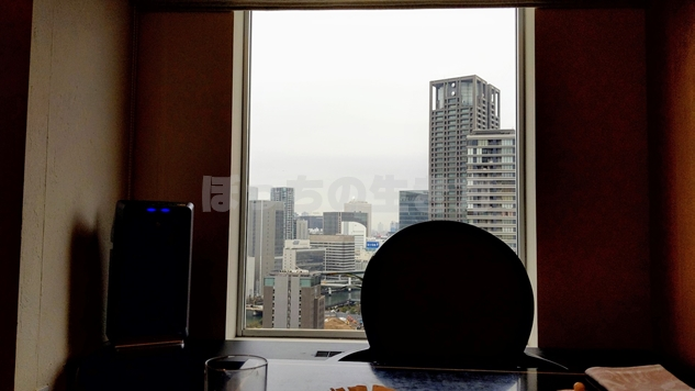 リーガロイヤル大阪のプレジデンシャルタワーからの風景