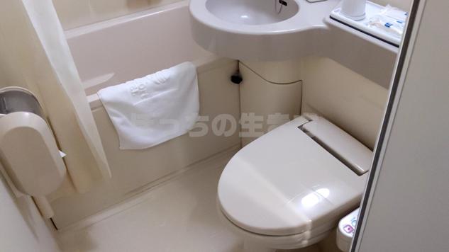 コンフォートホテル前橋のトイレ