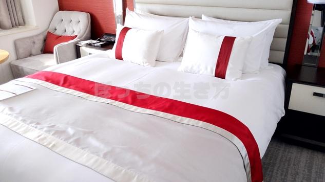 東京プリンスホテルのクラブフロアのベッド