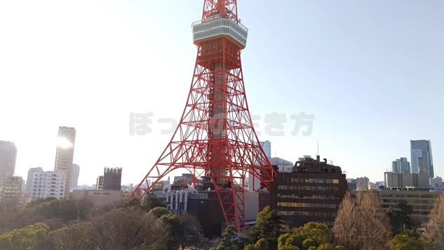 東京プリンスホテルから見える東京タワー
