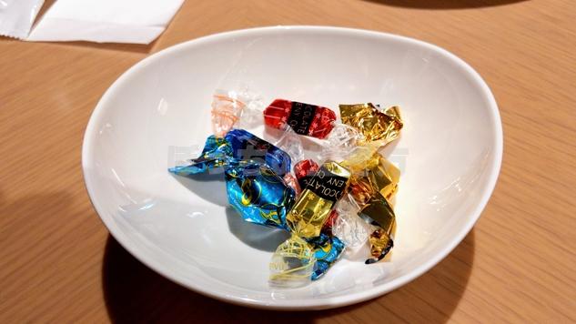 東京プリンスホテルのクラブラウンジのチョコレート