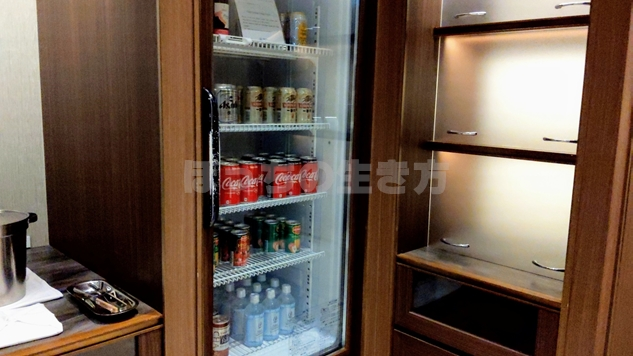 東京プリンスホテルのクラブラウンジの冷蔵庫