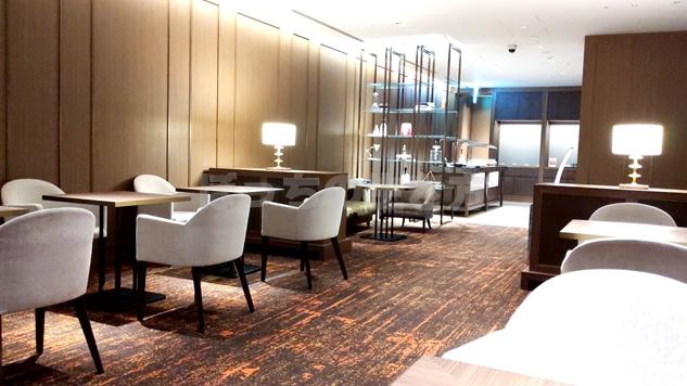 東京プリンスホテルのクラブラウンジの内装