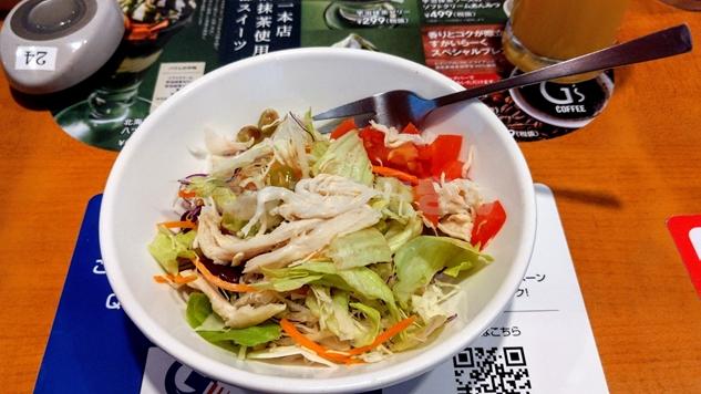 ガスト浅草雷門店の野菜サラダ