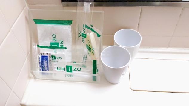 ユニゾイン浅草のアメニティーグッズ