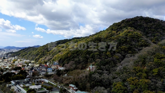 ANAクラウンプラザホテル神戸の山側風景