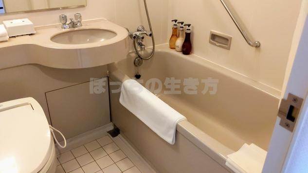 ANAクラウンプラザホテル神戸クラブフロアのバスルーム