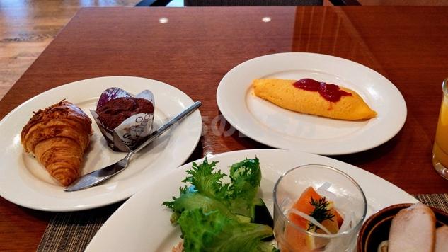 ANAクラウンプラザホテル神戸のクラブラウンジのオムレツ