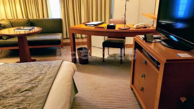 神戸ポートピアホテルのクラブフロアのシングルルーム