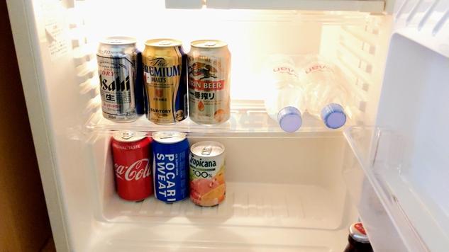神戸ポートピアホテルのクラブフロアの冷蔵庫