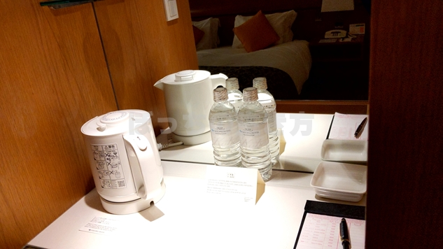 神戸ポートピアホテルのミネラルウォーター