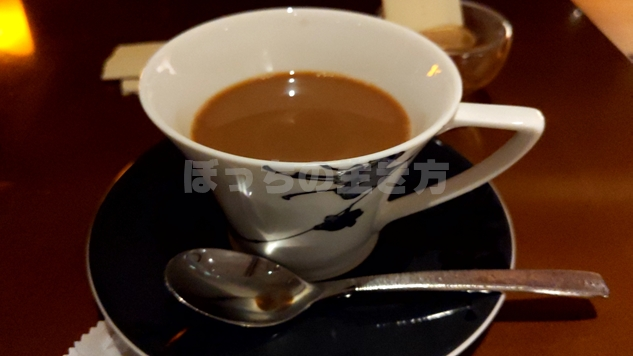神戸ポートピアホテルのナイトキャップのホットコーヒー