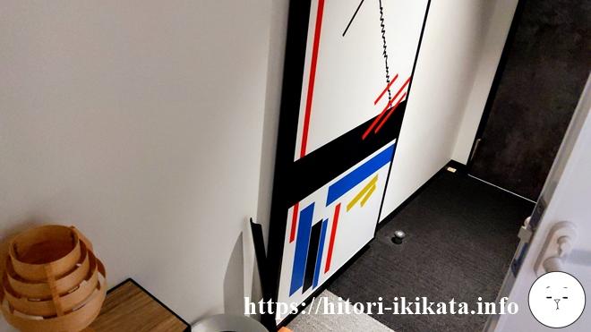 リソルホテル上野のシングルルームドア付近