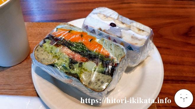 リソルホテル上野の朝食スイーツサンド