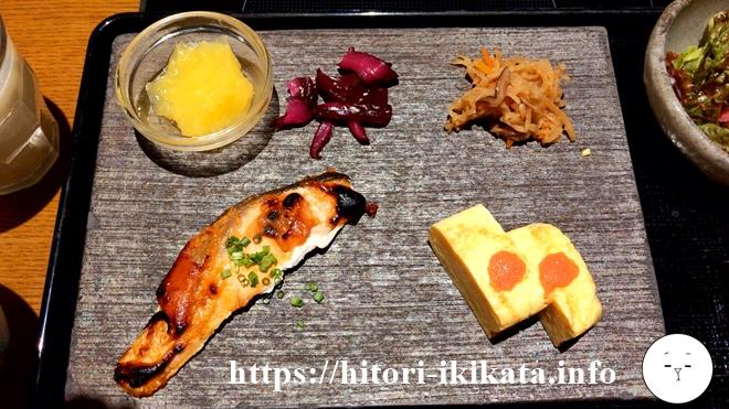 ホテルリソル町田の朝食のおかずプレート