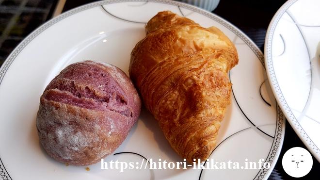 コンシェルジュラウンジの朝食パン