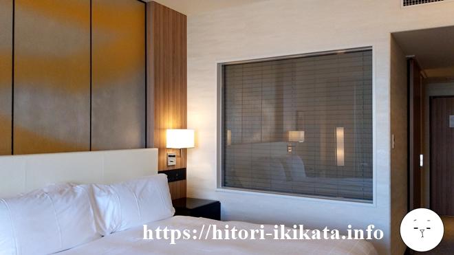 シェラトン都ホテル東京のクラブデラックスダブルのベッド