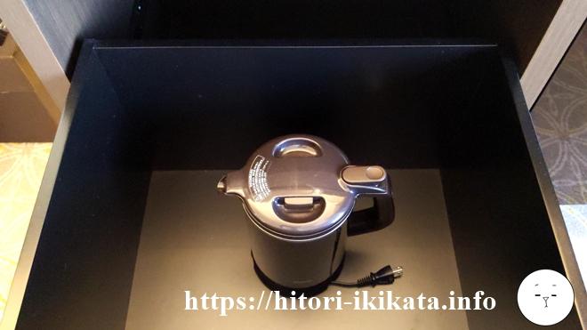 シェラトン都ホテル東京の湯沸かしポット