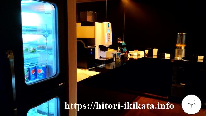 シェラトン東京のクラブラウンジのコーヒーマシン