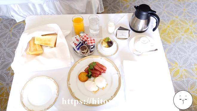 シェラトン東京の朝食ルームサービス