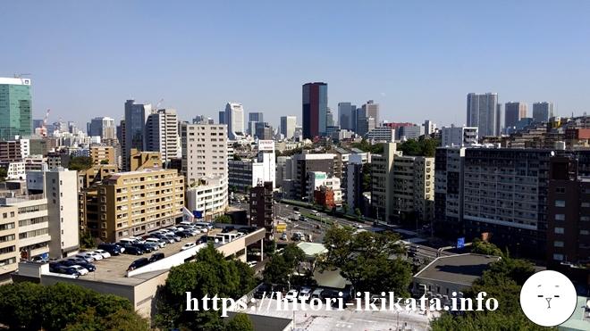 シェラトン都ホテル東京からの眺望