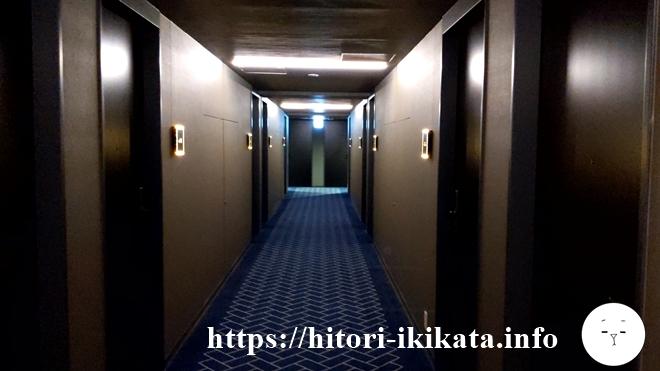 リソル四条室町のホテル廊下
