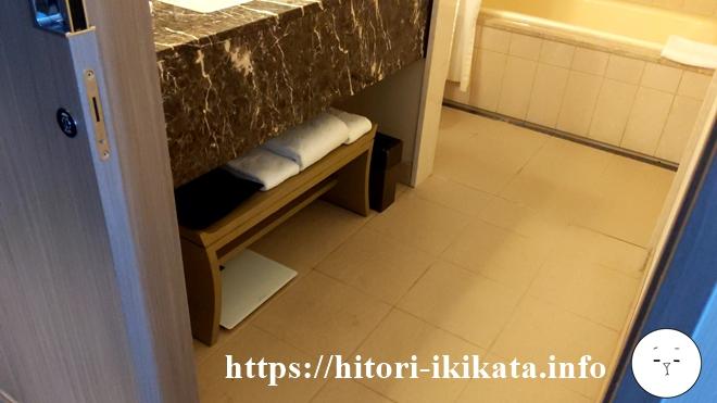 東京マリオットホテルのタオル枚数