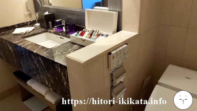 東京マリオットホテルのバスルーム