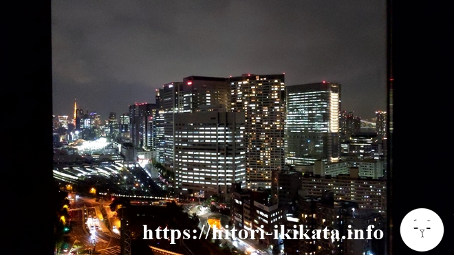 東京マリオットホテルからの夜景