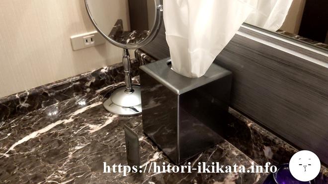 東京マリオットホテルのティッシュペーパー